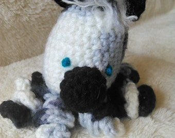 Zara the Crochet Zebra Octopus