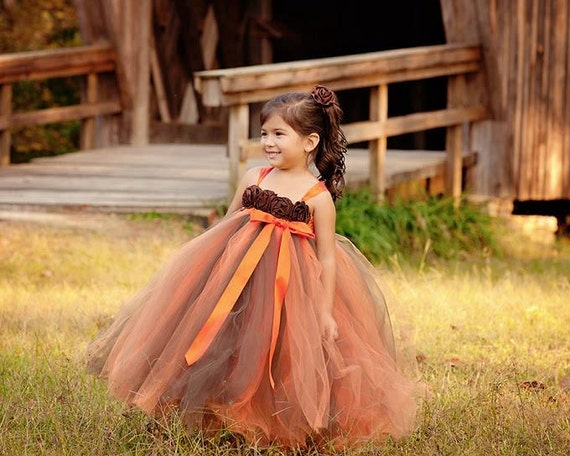 fall flower girl dress autumn tutu dress baby tutu dress. Black Bedroom Furniture Sets. Home Design Ideas