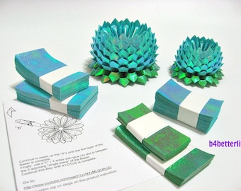 464 sheets of Light Blue Color Papers Kit For Making 4pcs of Origami Lotus In 2 Different Sizes. (TX paper series). #TX464-2.