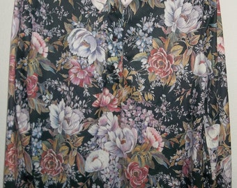 Vintage Floral, Pullover Blouse by Anthony Richards 70's - 80's