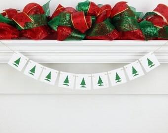 Christmas Tree Banner, Christmas banner, holiday banner, holiday decor, Christmas decor, mantel banner, mantel decor, christmas decoration