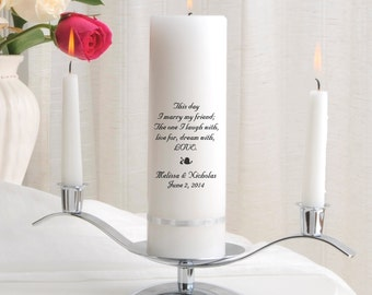 Unity Candle Set - Personalized Wedding Candle Sets - Unity Candles - GC330 B2