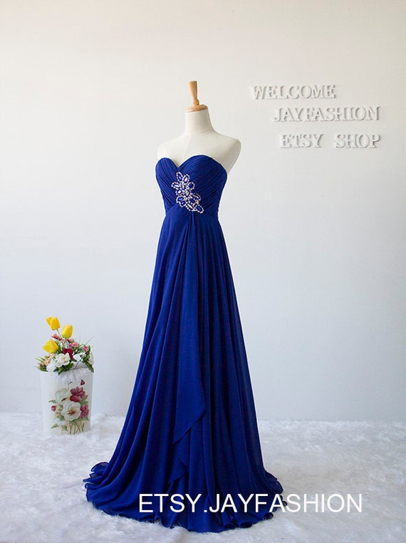 Royal Blue Sweetheart Long Prom Dress Fashion By Jayfashion