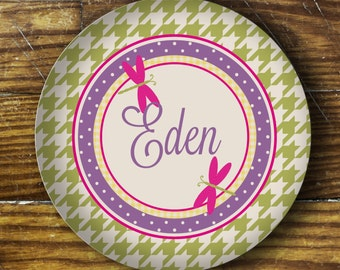 Personalized Dinner Plate or Bowl - Dragonfly