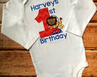 Circus Birthday shirt - personalized with name and age