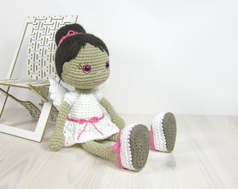 Free Crochet Angel Doll Pattern : PATTERN: Angel Crocheted angel doll pattern by KristiTullus