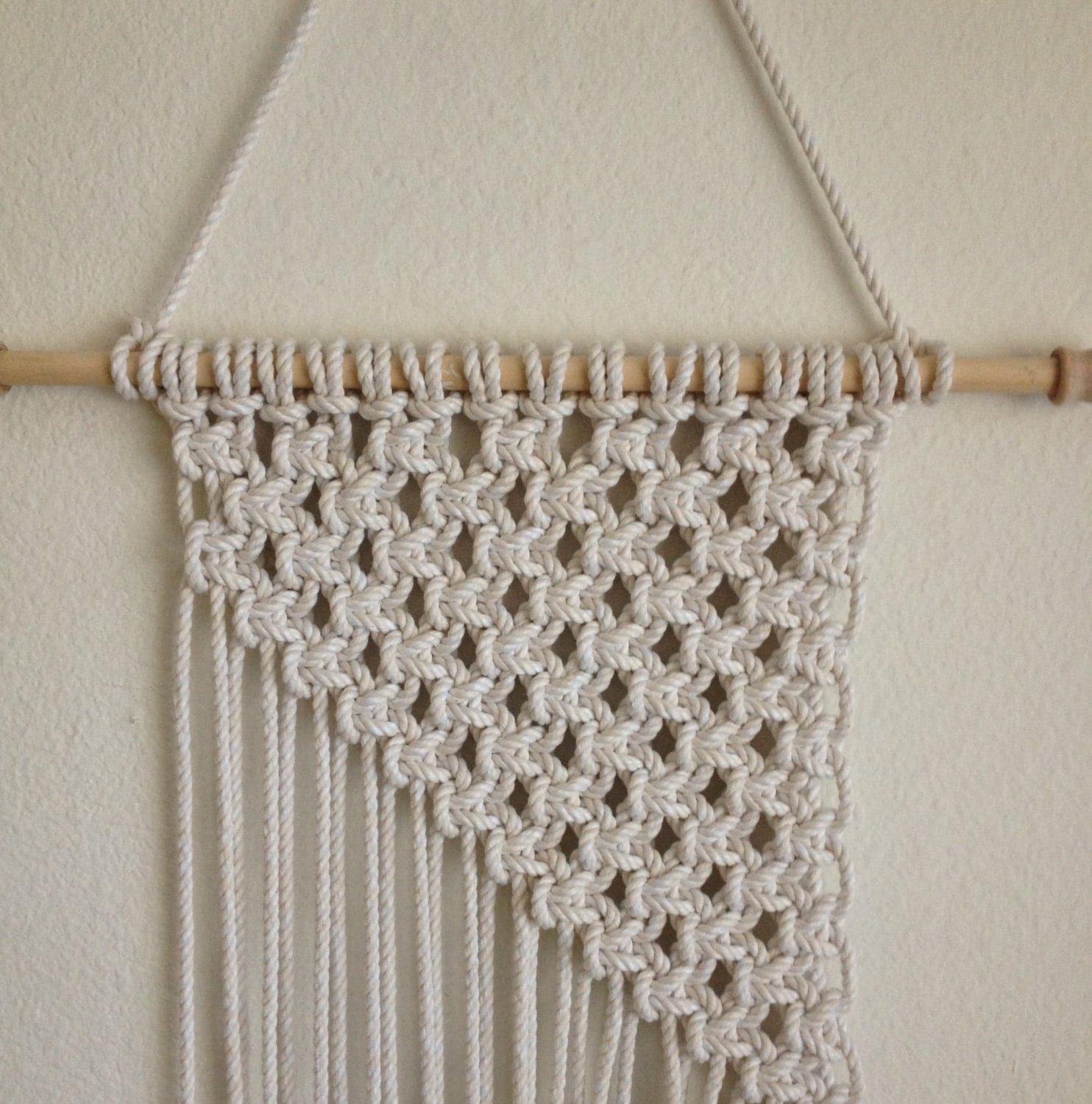 Macrame Wall Hanging Handcrafted Macrame rope by BiziKnitting4You