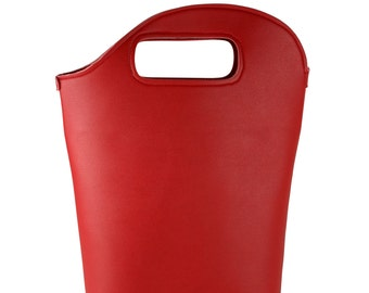 Bucket Bag Red Bucket Bag Red Handbag Carrier Bag Leather Bag Red Leather Handbag