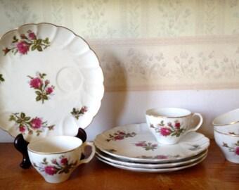 1940s era ladies luncheon or tea plate & cup set