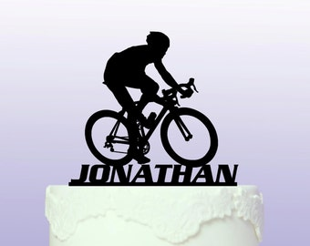 Personalised Road Bike Cake Topper