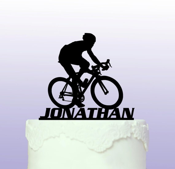 wedding cake toppers bicycle personalised road bike cake topper 26395