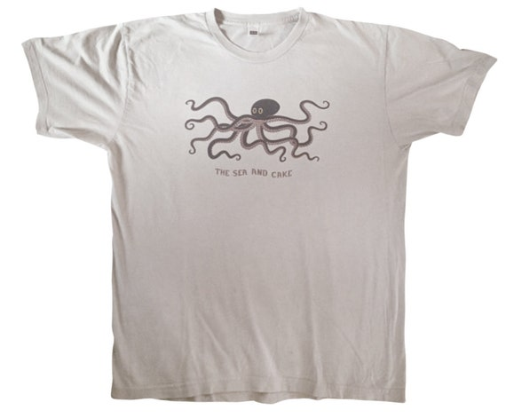 the Sea and Cake Octopus T Shirt. Limited 90s Band Tee Shirt