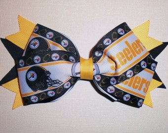 Pittsburgh Steelers NFL Football Bow