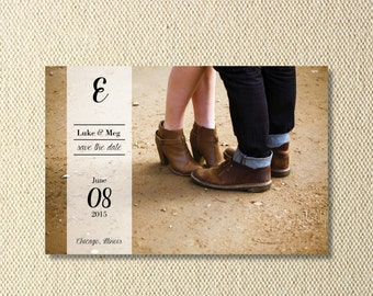 Printable Modern Save The Date Photo Card