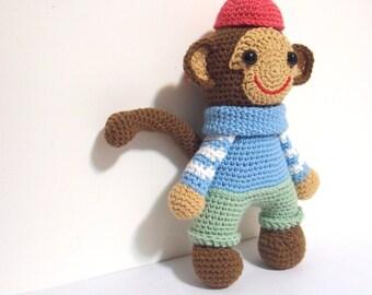 Naughty monkey, crochet Pattern ,Amigurumi ,cute ,crochet,DIY,winter,