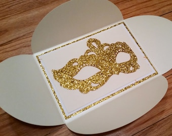 Bacchanalia - Masquerade Invitation(Sweet Sixteen/Wedding/Quinceanera/ Bat Mitzvah Invitation) LaMorAInvitations