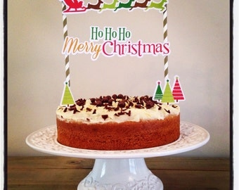CHRISTMAS CAKE BUNTING Banner Decoration
