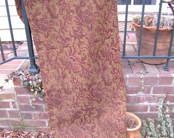 Antique French Fabric Brown Rust