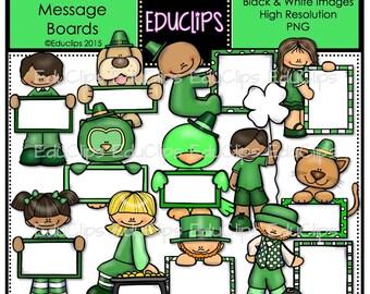 St Patrick's Day Message Boards Clip Art Bundle