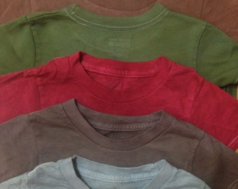 Custom dyed onesies and t-shirts