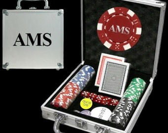 100 Personalized Poker Chip Set - Great Holiday Gift!