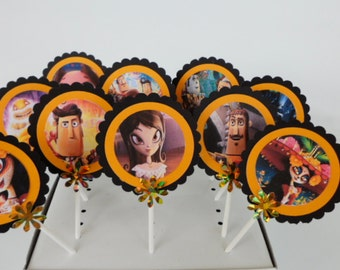 The Book Of Life Inspired Cupcake toppers..Cake Decor..Favor Tags...SET OF 10...