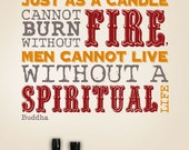 Candle Cannot Burn Without Fire | Wall Quote Decals