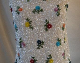 1960s Vintage Beaded Sleeveless Sweater Sparkler