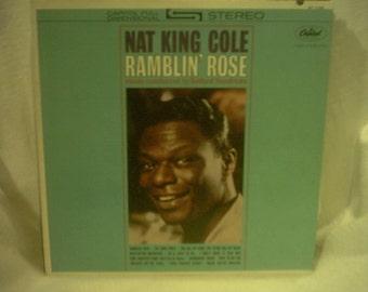 Vintage Rare Record Vinyl Nat King Cole Ramblin' Rose Capitol ST 1793 Gold Record Award