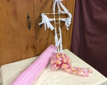 Clearance Easter Cross Craft Kit, Front Door Wreath, Deco Mesh Kits, Pink Wreaths