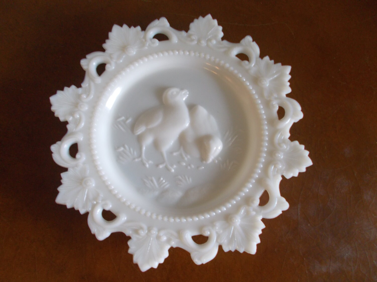 Vintage Westmoreland White Milk Glass Plate by Chancees on ...