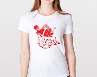 KillerBeeMoto: Mermaid Cafe Racer Motorcycle Short & Long Sleeve Motorcycle Shirts