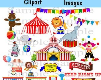 Cute circus clipart | Etsy