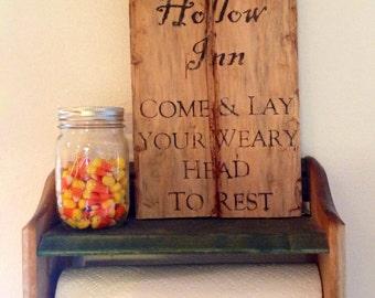 Sleepy Hollow Inn Halloween sign