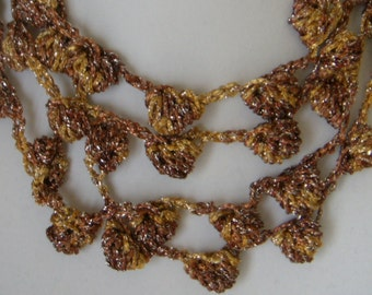 Three/Four Tier Brown/Gold Sparkle Bobble Necklace