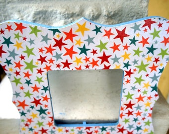 Cute Picture Frame Colorful Frame Star Picture Frame Kids Room Decor