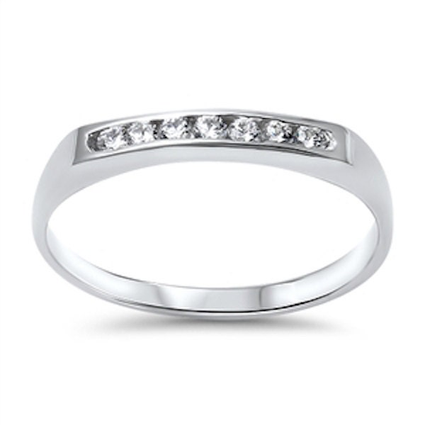 3mm half eternity wedding engagement band ring solid