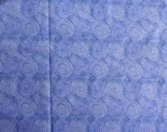 "Light Purple Circle of Dots Cotton Fabric.  42"" wide and sold by the yard"