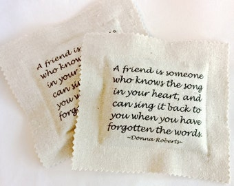 Friendship Lavender Sachets Set of Two, Unique Personal Gift