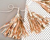 Rose Gold Wedding Decor Tassels - Mini Rose Gold Tassels - Rose Gold Decor Rose Gold Decorations (EB3087) - set of 12 Mini Metallic Tassels
