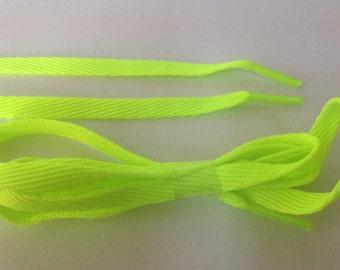 Neon Shoelace, Bright Yellow Shoelace