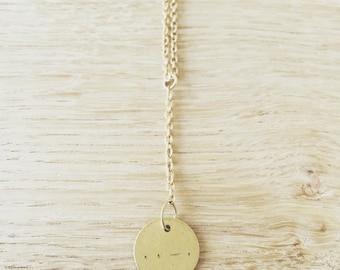 Morse Code Brass Necklace