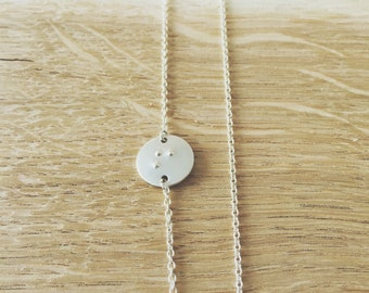 Silver Braille Necklace for Lisa
