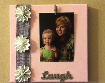 Canvas Laugh Picture Frame    FREE Shipping