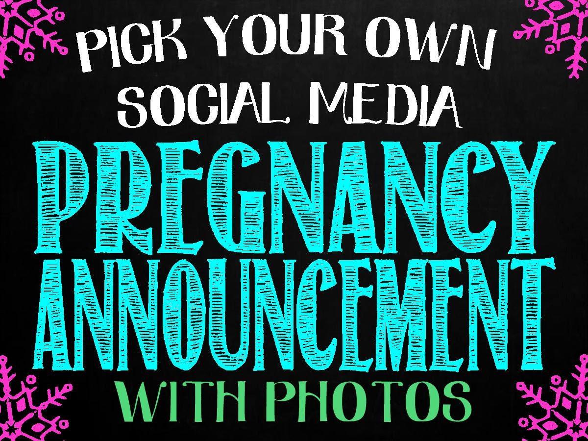 pregnancy announcement for social media facebook. Black Bedroom Furniture Sets. Home Design Ideas