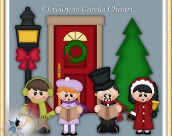 Carolers Clipart, Holiday, Christmas Carols