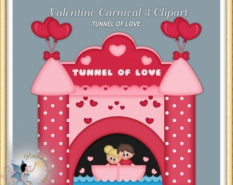 Valentine Carnival Clipart, Tunnel of Love