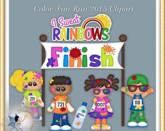 Marathon Clipart, Fun Run
