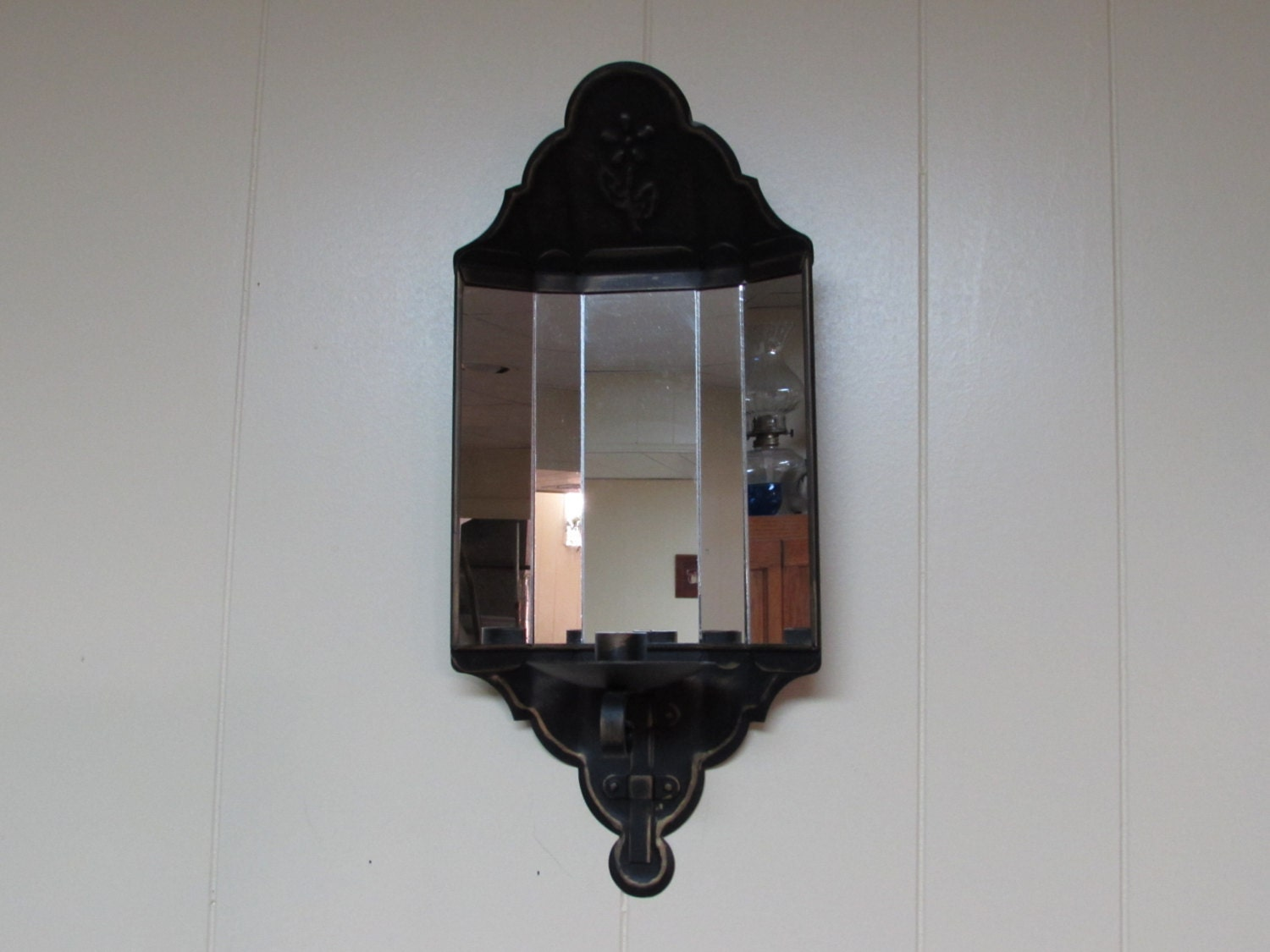 Mirror Sconce Candle Sconce Rustic Wall Décor Primitive