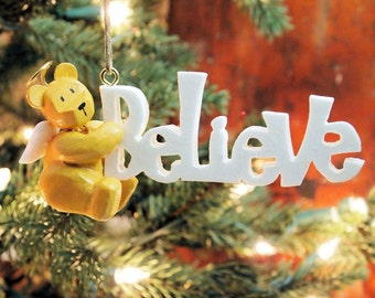 Believe Angel Ornament